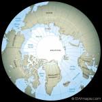 El polo norte y la Antártida